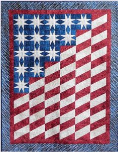 Quilt of Valor Star Quilt Blocks, Star Quilts, Mini Quilts, Scrappy Quilts, Blue Quilts, Quilting Fabric, Quilt Square Patterns, Barn Quilt Patterns, Square Quilt