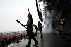 Amon Amarth on stage at Rock am Ring, June 2016