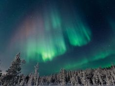 Finland is one of the best places on Earth to spot the Northern Lights - they appear on more than 200 nights a year in Finnish Lapland.