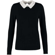 Dorothy Perkins Jumper black ($61) ❤ liked on Polyvore featuring tops, sweaters, jumper top, dorothy perkins and jumpers sweaters