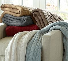 Love these cozy throws with the faux sheepskin on the reverse, and they add texture to your decor.