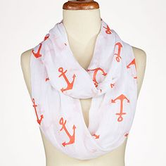coral anchor scarf
