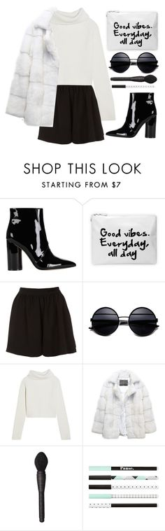 """Sem título #947"" by andreiasilva07 ❤ liked on Polyvore featuring Sigerson Morrison, Topshop, Haider Ackermann, Lilly e Violetta and NARS Cosmetics"