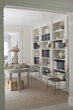 Studio Design A Double Height Room With Floor To . How To Build A Bookcase With Crates The Family Handyman. Home Design Ideas Le Living, Living Spaces, Living Room, Home Office, Office Decor, Driven By Decor, Built In Bookcase, Bookcases, Library Bookshelves