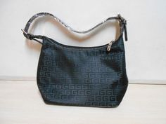 """Small Black Polyester Handbag NEW W/ """"G's"""" Small Woman's Purse W/7 Inch Straps #Unbranded #ShoulderBag"""
