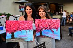 wine and art parties, girls night out, creative