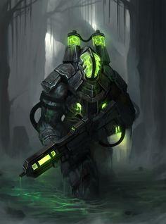 by Nai ga on ArtStation. Fantasy Armor, Sci Fi Fantasy, Dark Fantasy, Robot Concept Art, Armor Concept, Character Inspiration, Character Art, Space Opera, Arte Robot