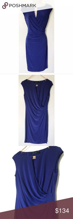 NWT Ralph Lauren Purple Draped Dress Size: 10. Condition: Brand new, no flaws. If you have questions, feel free to ask! Ralph Lauren Dresses