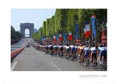 Tour de France CHAMPS ELYSEES Cycling Poster Print - Final Stage, Paris, 2004 Tour de France  ~Available at sportsposterwarehouse.com