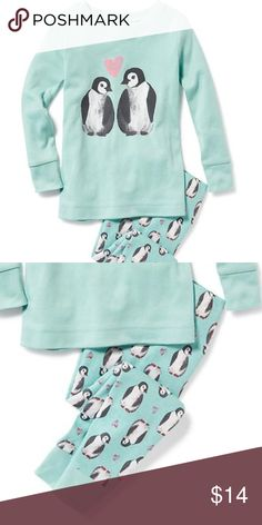 NWT Old Navy pajamas PENGUINS hearts winter pjs NWT 95f7e97db