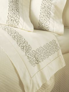 Finley Embroidered Bed Linens By Sferra