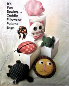 Simplicity 7367 Fun Cuddle Pillows or Pajama Bags: 12' Round Lady Bug. Cat. Lion. Frog, Turtle Simplicity,http://www.amazon.com/dp/B007UOOHYO/ref=cm_sw_r_pi_dp_VP6ytb1EWHNJAYME