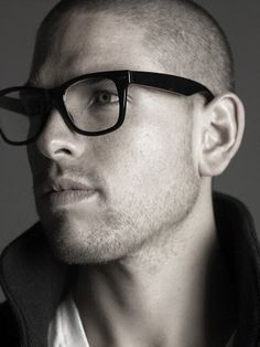 Shaved head Glasses