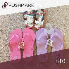 Old Navy Flip flops Brand new flip flops - all three pair for $10!! Old Navy Shoes Sandals & Flip Flops