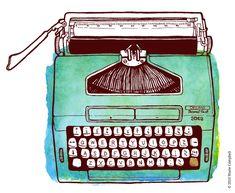 Typewriter illustration by Debut , via Behance