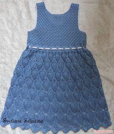 Платье ананасами для девочки