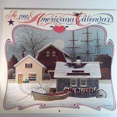 Charles Wysocki Calendar Art Prints Americana New England Sailboats Cat 1993