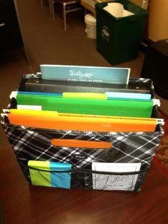 Thirty-One Gifts Fold-N-File $25. Great Mobile Office! #ThirtyOneGifts #ThirtyOne #Monogramming #Organization. www.mythirtyone.com/marilynpatton