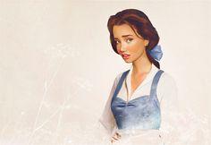 Belle - Beauty and the Beast: Real Life Disney Princess Portraits by Finnish artist Jirka Vinse Jonatan