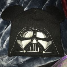 Darth Vader Mickey Ears hat Cute Darth Vader Mickey Ears hat. Has Vader embroidered on back. Great for a trip to Disney or as a cold weather hat Disney Parks Accessories Hats