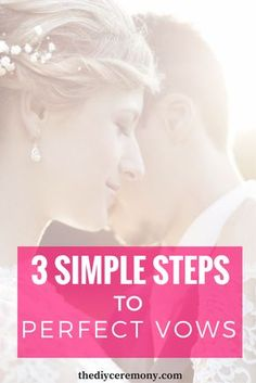 How To Write Your Wedding Vows: 3 Simple Steps – The DIY Wedding Ceremony – funny wedding ideas Funny Wedding Vows, Best Wedding Vows, Wedding Vows To Husband, Wedding Quotes, Wedding Humor, Wedding Ceremony, Wedding Speeches, Sample Wedding Vows, Wedding Vows Template