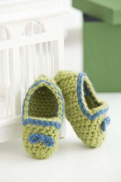 Free crochet pattern: Baby Booties