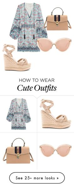 """Idée et inspiration look d'été tendance 2017 Image Description """"Look cute in this summer must have outfit!"""" by kahala-shop on Polyvore featuring Talitha, Kendall + Kylie, Gucci and Linda Farrow"""