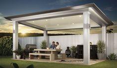 Pavilion - Outdoor Living Patio by Stratco – Architectural Design Pool Gazebo, Backyard Pavilion, Outdoor Pavilion, Backyard Patio Designs, Outdoor Pergola, Outdoor Living Areas, Outdoor Rooms, Carport Designs, Pergola Design