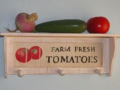 Kitchen Wall Shelf Vegetable Garden Lovers by CountryChicShoppe, $24.00