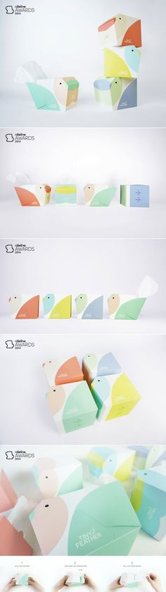 The Dieline Awards 2014: Student, 1st Place – Tiny Feather — The Dieline | Packaging & Branding Design & Innovation News