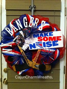 New York Rangers Hockey wreath