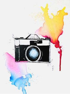 Colors of life, art, watercolor, aquarell, airbrush, camera, fotografie, photo, picture, schnappschuss, painting