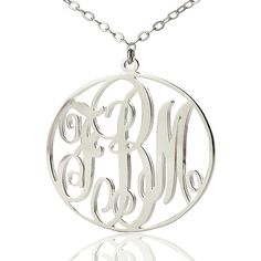 Monogram Necklace is one of hottest personalized jewelry items trending today. You still not have one ? No worry, try with this new style. Make your initials come to life with this personalized Circle Silver Plated Monogram Necklace! Your initials will be made in monogram font , framed by a circle, creating a beautiful monogram pendant. This circle monogram necklace is made from Sterling Silver and comes with a Sterling Silver chain