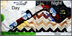 Quiet Book Insert (Trains, Planes, Seasons Change by LittleKidsGrow) Tutorial // Riley Blake Designs -- Cutting Corners