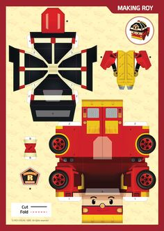 Activities - Robocar POLI Crafts For Boys, Paper Crafts For Kids, Diy Paper, Diy And Crafts, Bear Birthday, 3rd Birthday Parties, Diy Birthday, Party Activities, Toddler Girls
