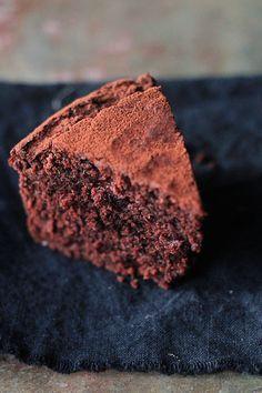 Red wine chocolate cake (100% whole wheat + vegan + refined sugar free)