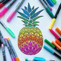Who want a pineapple with rainbow