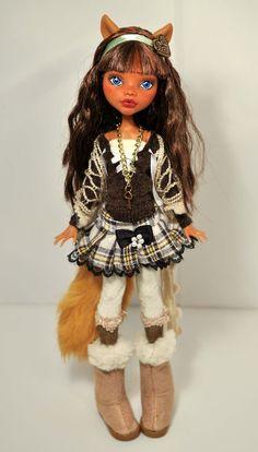 OOAK Custom Monster High Doll Adelle 69 by Nekomuchuu Cute Repaint Clawdeen | eBay