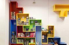 biblioteca- estantería tetris