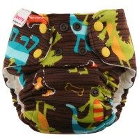Blueberry One Size Bamboo Diaper
