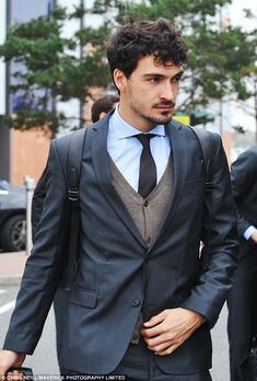 Mats Hummels, the Dortmund defender, pictured upon arrival at Liverpool Airport on Friday morning