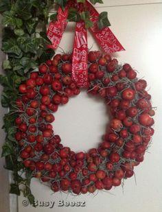krans malusappeltjes tillandsia #wreath