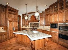 Luxury Kitchens | ... Kitchen Cabinets :: Cabinets Luxury Log Home Kitchen Etc. KIT9690 | Custom Luxury Kitchens by Timber Ridge Properties