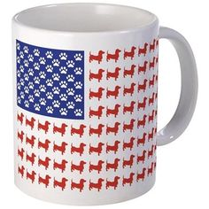 Dachshund Patriotic Flag Mug on CafePress.com