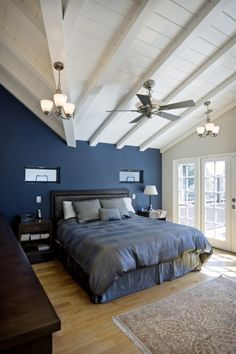 captivating blue bedroom | 1000+ images about Vaulted ceilings on Pinterest | Vaulted ...