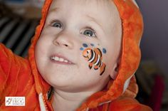 cheek face painting for kids   Clown Fish painted at Tumblebums Halloween party 2010. Photo taken by ...