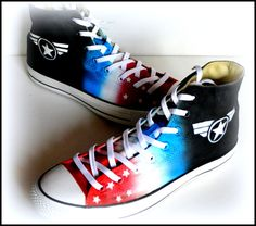 99b0ae8ff72e Mens Military Shoes Mens America Shoes Custom Made by PricklyPaw Converse  Men