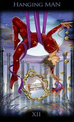 XII - Le pendu - Legacy of the Divine Tarot par Ciro Marchetti Hanged Man Tarot, The Hanged Man, Pet Psychic, Divine Tarot, Fortune Telling Cards, Tarot Major Arcana, Tarot Card Meanings, Tarot Spreads, Oracle Cards