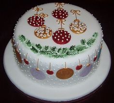 Image result for quick effective decorations for christmas cake