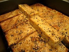 Baked Tofu with Seasoned Marinade